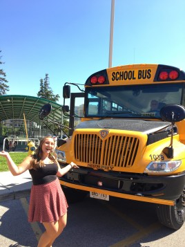So much excitement when we saw real yellow school buses for the first time!