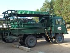 Cabo Polonio. L'autocarro che porta al villaggio.