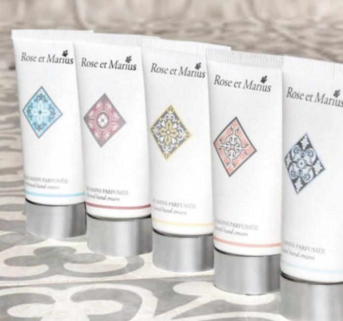 Crèmes mains parfumées ROSE et MARIUS - prix : 14, 75 euros les 50 ml