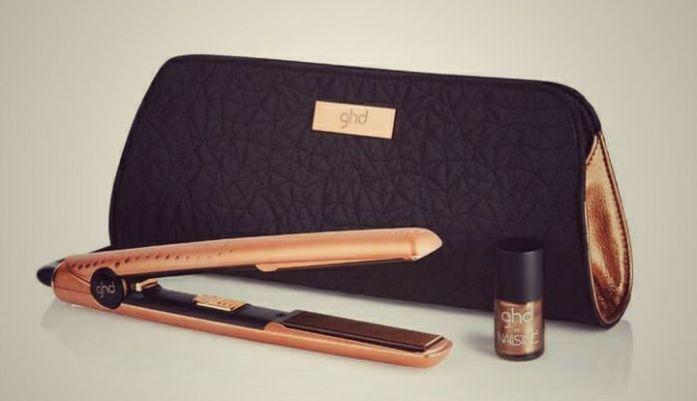 SHOP IT Coffret styler® ghd gold premium Copper Luxe – 210 € Styler® ghd gold premium Copper Luxe + pochette thermorésistante assortie + un vernis Nailsinc offert Edition limitée jusqu'en février 2017