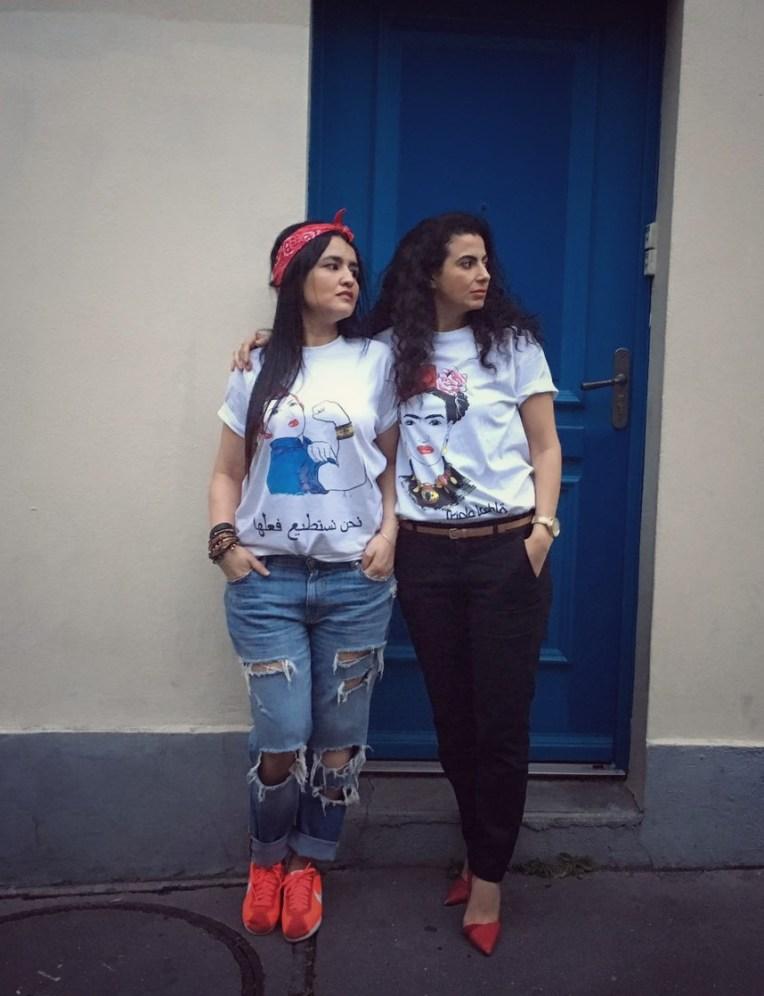 Avec la créatrice, Hind Ayadi. Paris 20ème.