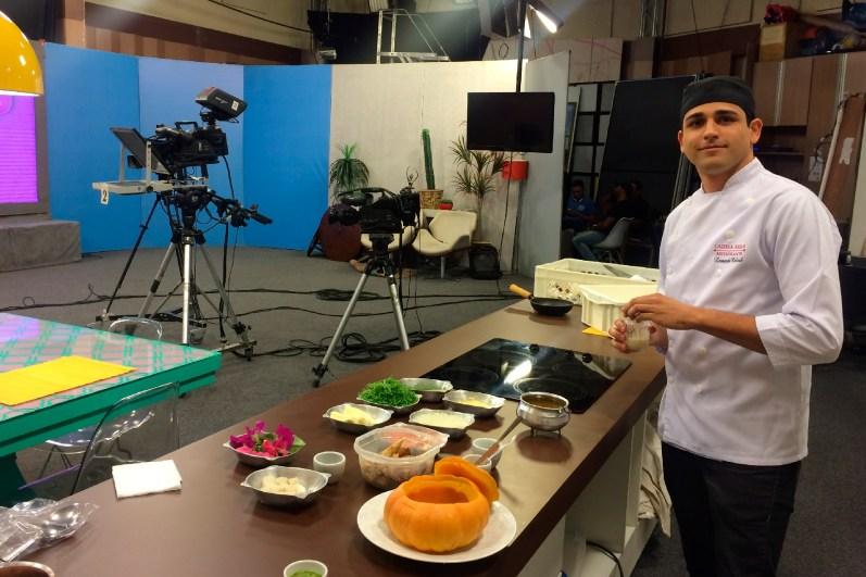 Participação do chef Leonardo Cabral no programa Super Feliz - Rede Super