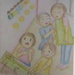保育士二次試験絵画の予想問題。うがい手洗い