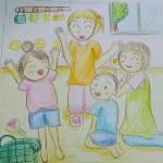保育士二次試験絵画の予想問題。英会話レッスン