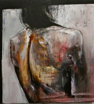 """""""L'étreinte"""", oil on canvas, 110 x 120 cm., 2011"""