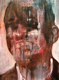 """""""Hommage à B."""" (Barak Obama and Francis Bacon) 100 x 80 cm. oil on canvas"""