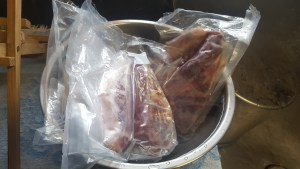 Thawing country style pork ribs before cooking