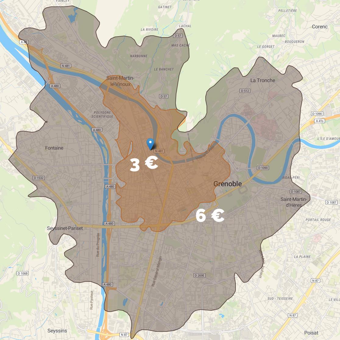 Le Souffle des Sens se déplace en entreprise ou à domicile dans la ville de Grenoble et environs proches pour 3 à 6 €.. Au-delà, comptez 0,25 € par kilomètre.