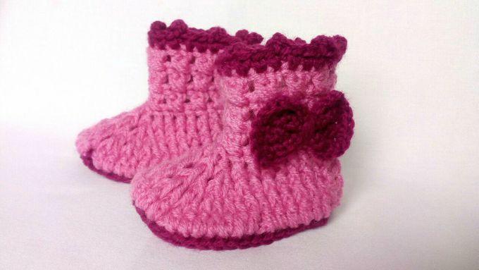 chaussons bebe crochet modele gratuit