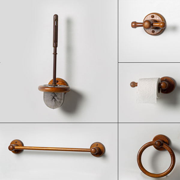 5 accessoires de salle de bain en bois vera