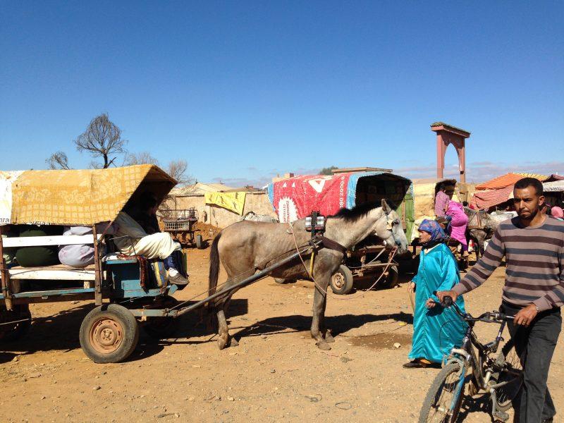 Traditioneller Wochenmarkt im Norden Marokkos