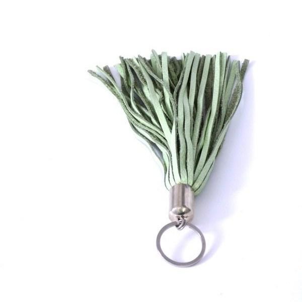 Schlüsselanhänger Keyring Leather grün