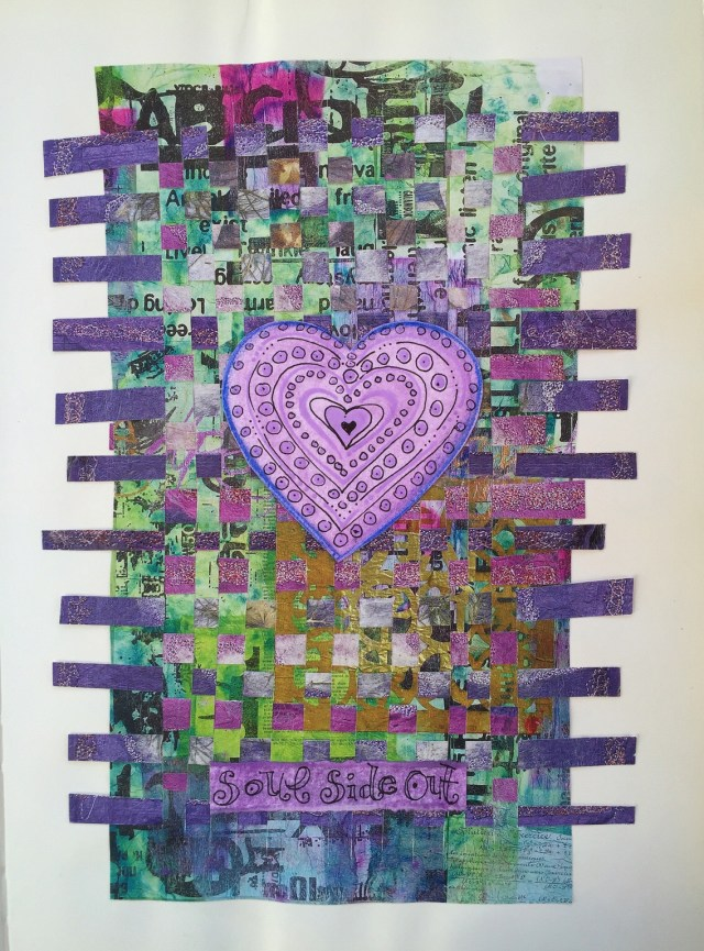 Soul Side Out - Recycled Magazine Paper Weaving & Doodles