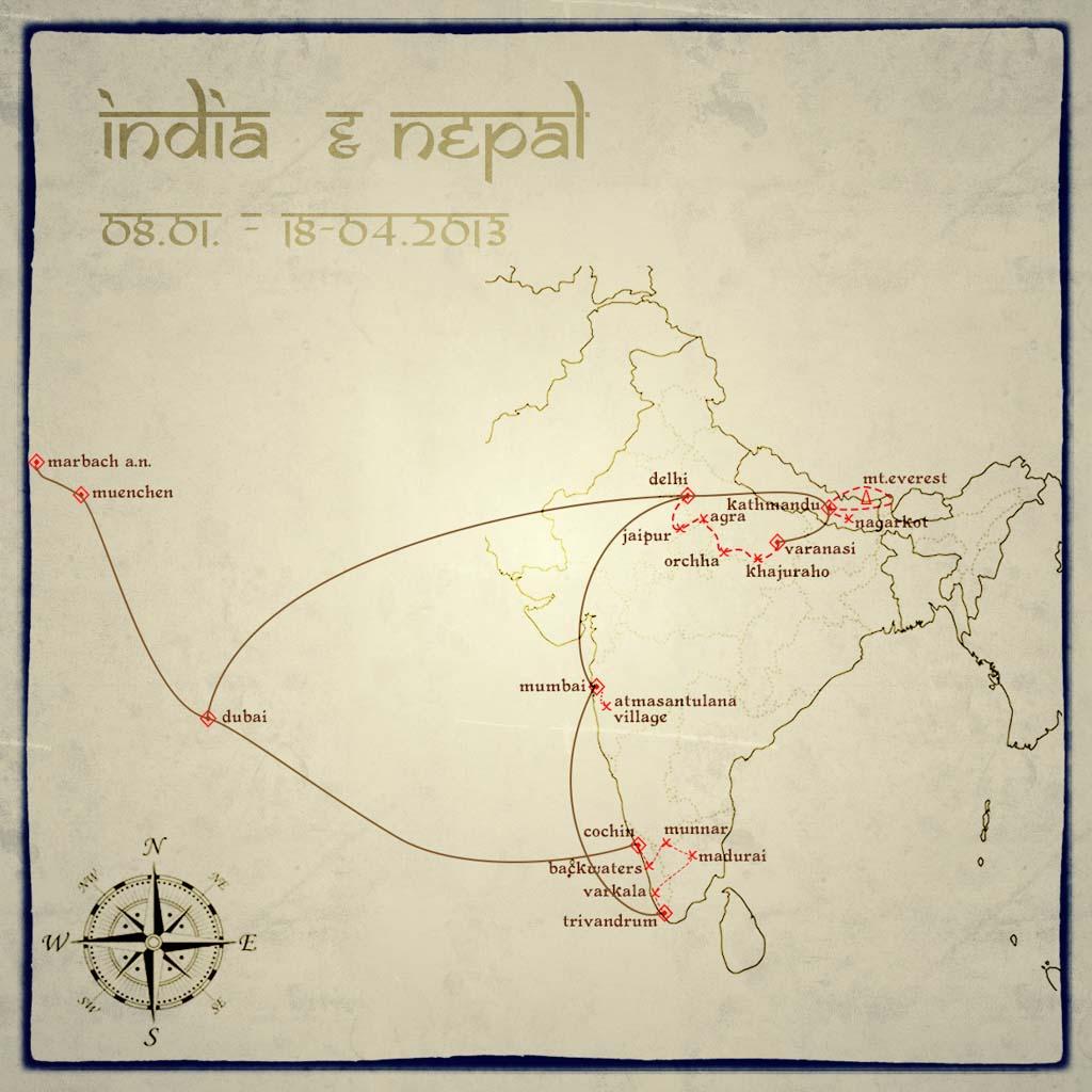 Soul-Traveller | Indien Reiseblog Route