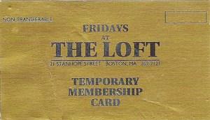 Loft membership card