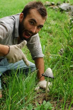 Ben found a mushroom!