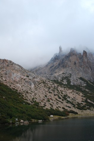 View of the lake from Refugio Frey
