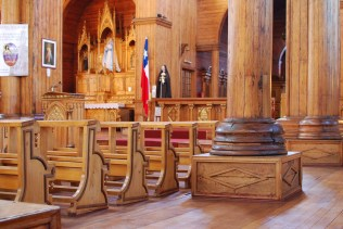 The inside of the wooden church of Castro