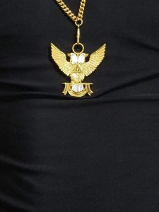 "32nd-Degree-Double-Headed-Eagle-Medallion-""Wings-Up""-gold-chain"