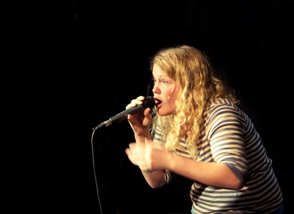 Kate Tempest onstage at OneTaste Festival 2009, by Steve Rutherford