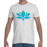 Mens Colored Lotus w/website on back
