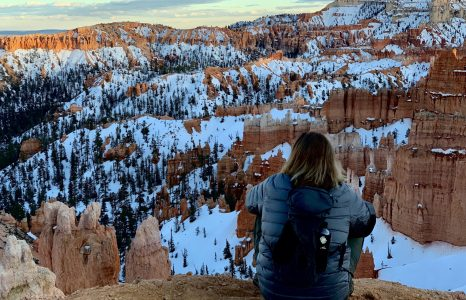 Flying Full Circle on the Snow-Capped Rim of Bryce Canyon