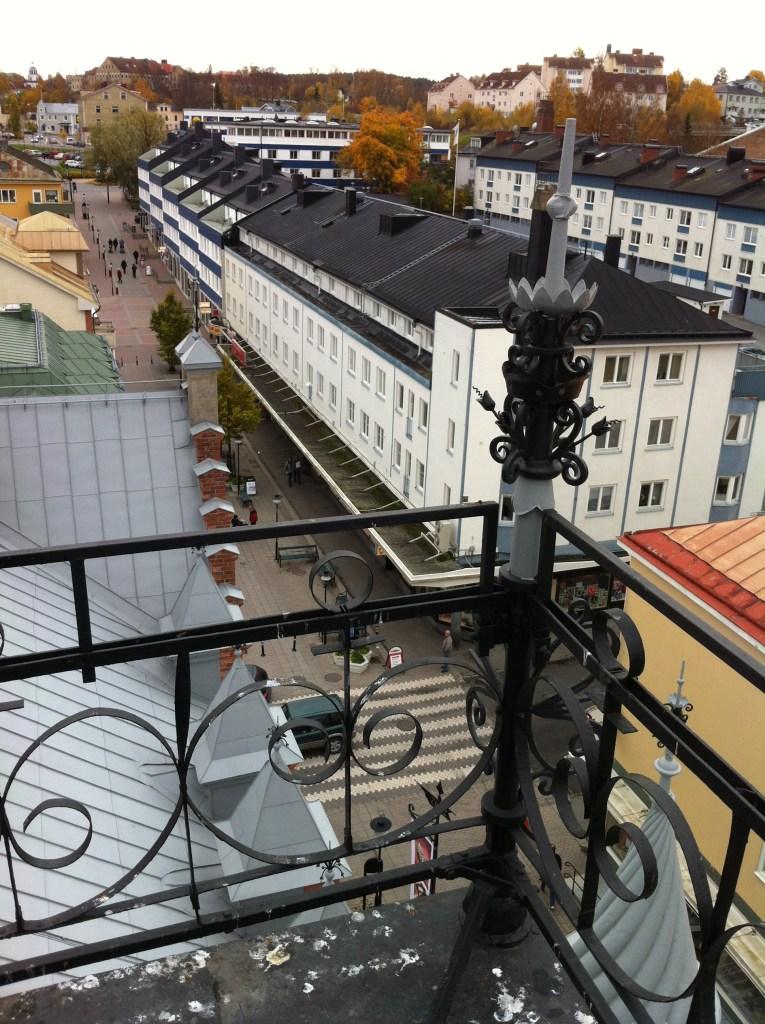 Utsikt från tornet på Apotekshuset i Sollefteå.