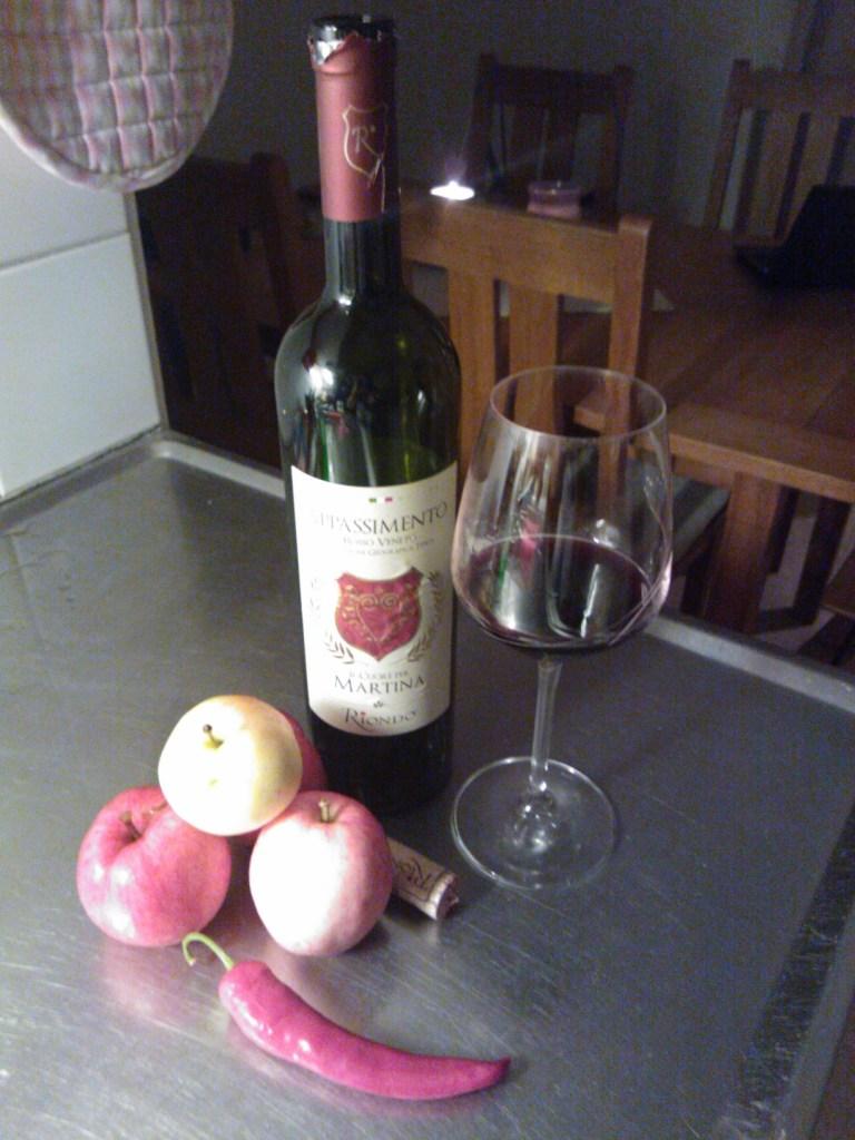 Äpplen och vin