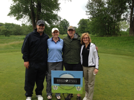 Matt Birkenholz, Melissa, George and Sheryl Bjork at the 2015 Hennepin County Sheriff Foundation Shoot for the Stars Golf Tournament.