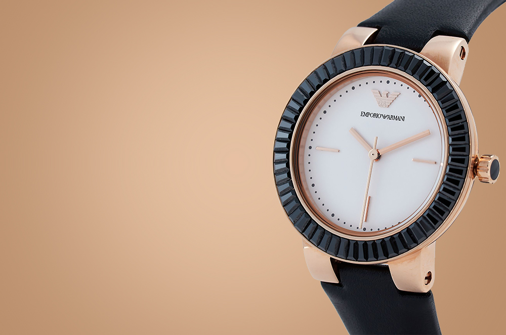 emporio armani watches womens rose gold