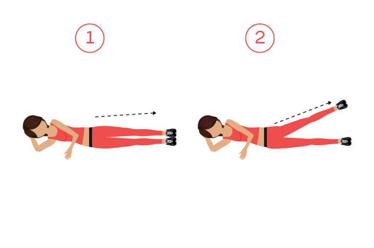 Lying down side leg raises