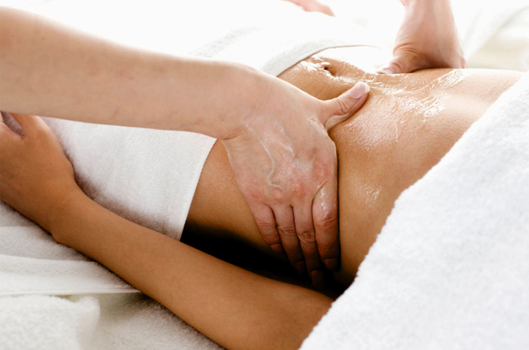 Belly Button Massaging With Essential Oils