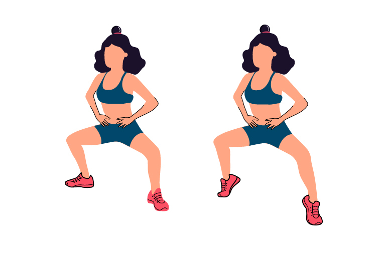 How to do plie squat pulse?