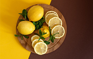 Squeeze juice from lemons