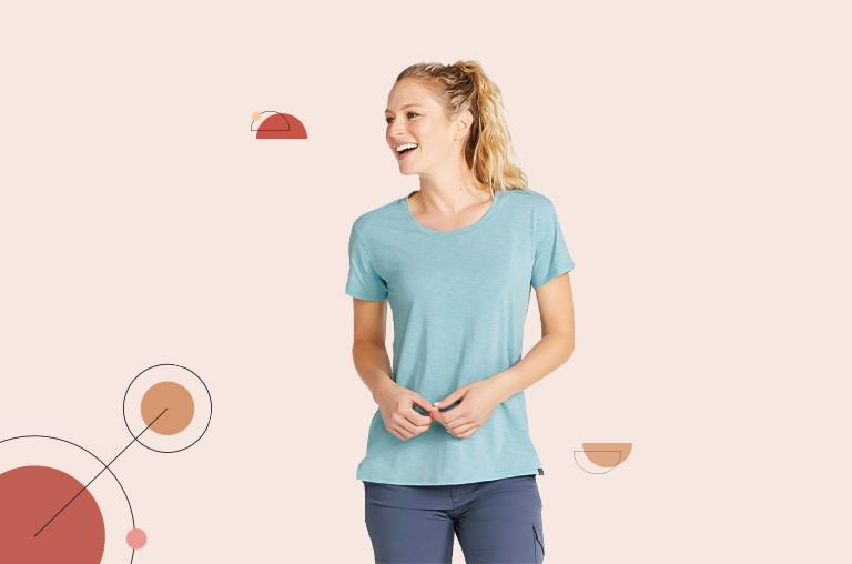 L.L. Bean Women's All-Day Active UPF Tee, Short Sleeve
