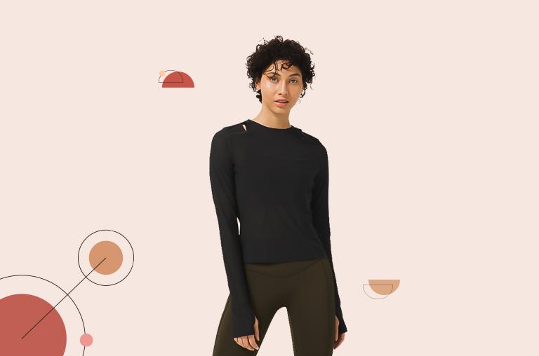 Lululemon Set Challenger Long Sleeve Wicking Shirt