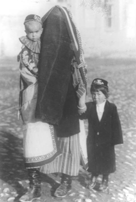 an Uzbek woman in traditional covering