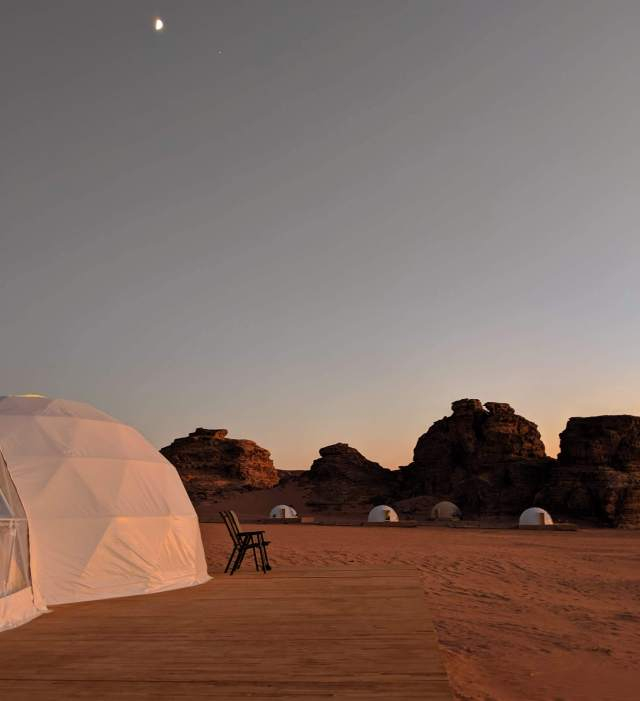 Bubble hotel at Wadi Rum