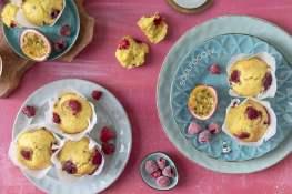 muffins met frambozen en passievrucht cupcakes recept