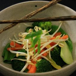 Steamed vegetables, before broth is added. Photo by Robyn Joynt