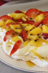 Once cool store in an airtight container or top with whipped cream mango, strawberries and passionfruit.