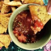Crispy Homemade Nachos (with salsa)