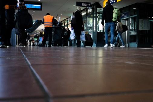 Schuhe im Hauptbahnhof