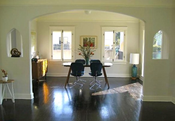 Beautiful windows, character niches, original wood floors