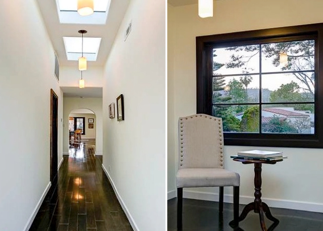 Details: Hallway skylights and windows