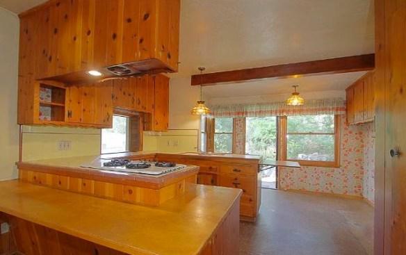 Kitchen with original cabinets