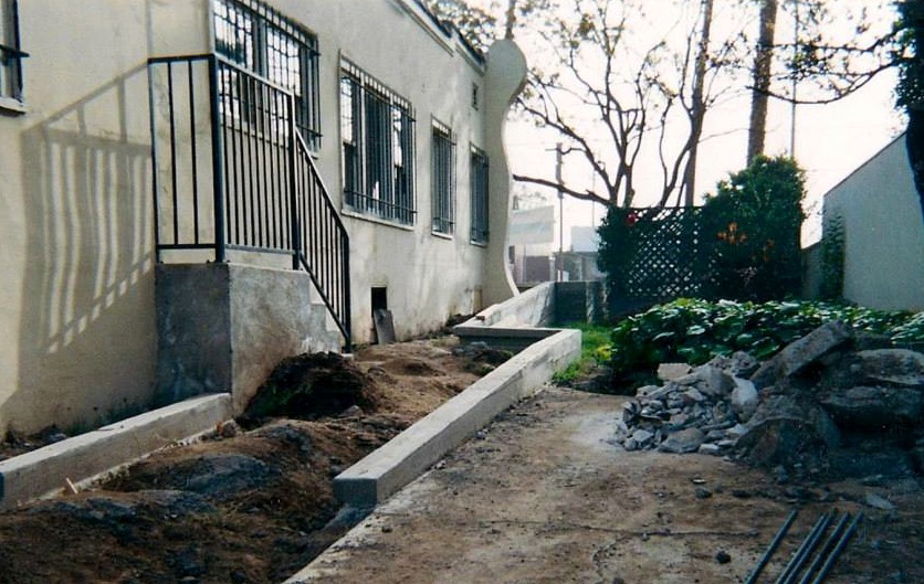 Side patio in progress, 2003