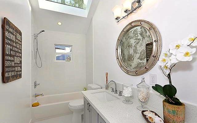 Bath with skylights