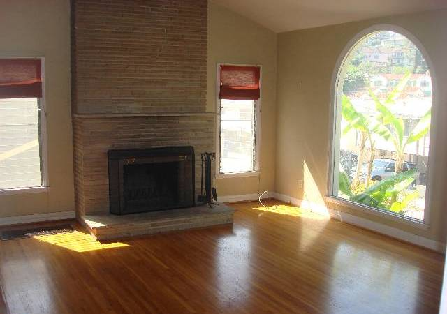Ceiling height fireplace