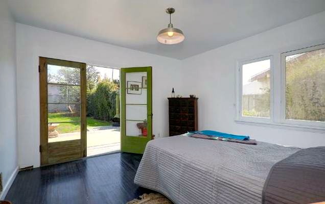 Bedroom with yard access